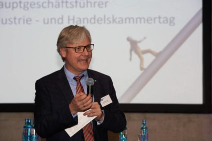 Dr. Martin Wansleben (Hauptgeschäftsführer Deutscher Industrie- und Handelskammertag DIHK). Foto: IHK/Lantelmé