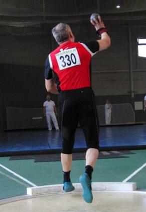 Kugelstoßer Uwe Krah kam mit seiner katastrophalen Technik nur auf 12,94 Meter und verpasste nach seinem zweiten Platz im Vorjahr das Finale der besten Acht. Foto: nh