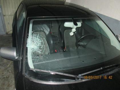 Der beschädigte Audi A 3. Foto: Polizeipräsidium Nordhessen/obs