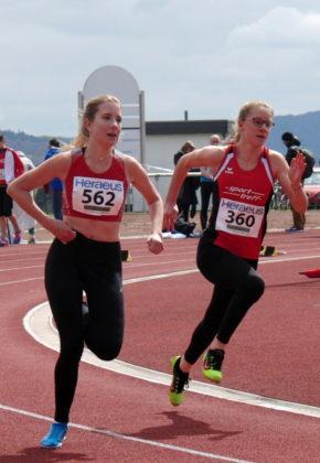 Lynn Olson (Nr. 360) gefiel mit einer guten Lauftechnik über 150 und 300 Meter. Foto: nh