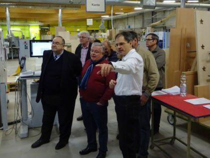 Bernd Siebert MdB (links) beim Besuch der Firma Ehring im vergangenen Jahr. Foto: nh