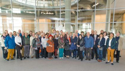 Die Besuchergruppe im Bundestag. Foto: nh