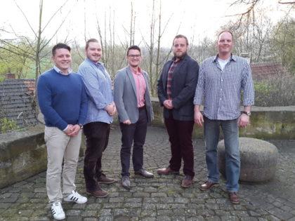 Andreas Koch, Simon Reichhold, Christopher Sinning, Tobias Goldmann und Christian Reichhold. Foto: nh