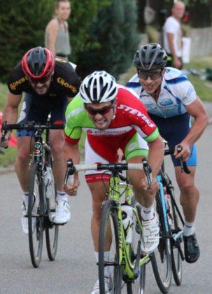 Kevin Vogel zeigt vollen Einsatz im Rennen. Foto: nh