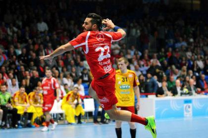 Linksaußen Michael Allendorf, dem mit 46 Treffern bislang besten MT-Torschützen im EHF-Cup. Foto: Alibek Käsler
