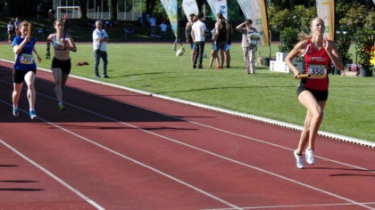 Katharina Wagner lief als Startläuferin einen Vorsprung heraus. Foto: nh