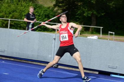 Henri Alter belegte bei den deutschen Hochschulmeisterschaften im  Speerwerfen einen unerwarteten sechsten Platz. Foto: nh