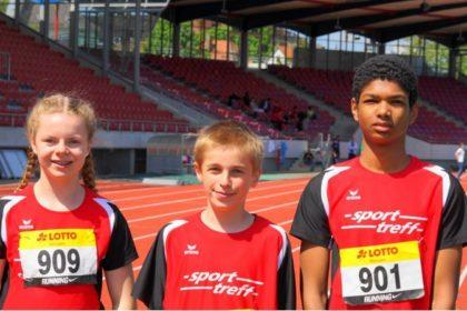 Drei erfolgreiche Melsunger Nachwuchsleichtathleten: Vivian Groppe, Niclas Dittmar und Jermaine Kothe. Foto: nh