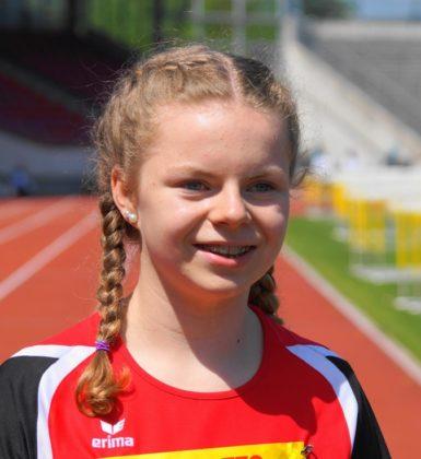 Vivian Groppe sorgte im 75m-Finale der WU14 mit 10,24 Sekunden für den zweiten Paukenschlag aus Melsunger Sicht