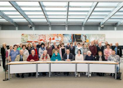 Im Fraktionsraum der SPD-Bundestagsfraktion fand auch der gemeinsame Fototermin statt. Foto: nh