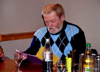 """""""Herr"""" der Zahlen: Walter Nöll. Foto: nh"""
