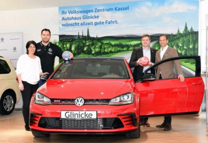 MT-Marketingleiterin Christine Höhmann, MT-Kapitän Michael Müller, MT-Vorstand Axel Geerken und Glinicke-Geschäftsführer Florian Glinicke (v.l.). Foto: MT