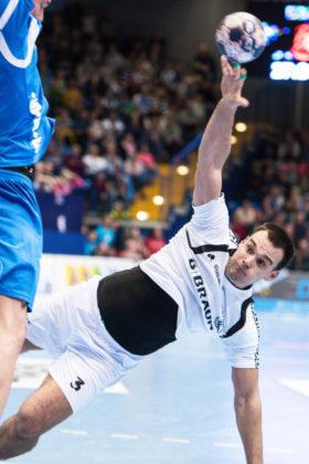 Marino Maric, dem im Hinspiel vier Tore gelangen. Foto: Alibek Käsler