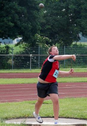 Mit 11,30 m verbesserte Luis Andre den fast 38 Jahre alten Nordhessenrekord für die M12. Foto: nh
