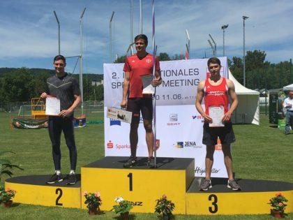 Der Melsunger Henri Alter belegte beim 2. internationalen Speerwurf-Meeting in Jena den 3. Platz mit der neuen Bestweite von 66,97 Metern. Foto: nh