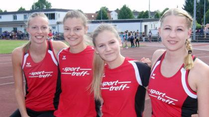 Das MT-Staffel-Quartett, dass in Friedberg den zweiten Platz über 4x400 Meter schaffte. Foto: nh