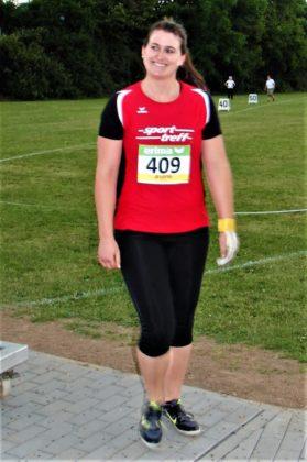 Lisa Arend war nach ihrem Kanada-Urlaub mit ihrer Hammerwurfweite zufrieden. Foto: nh