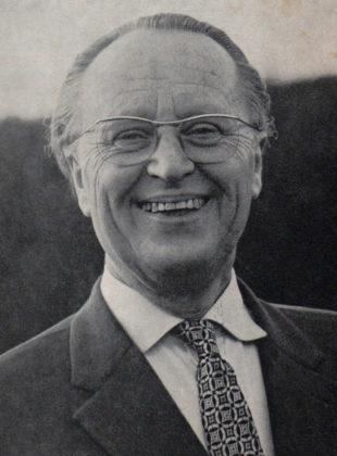 Dr. Rudolf Bubner im Jahr 1964, Lehrer am Homberger Gymnasium, Schulmuseum der BTHS Homberg. Foto: nh