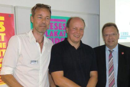 Tom Werner, Helge von Horn und Landrat Winfried Becker (v.l.). Foto: nh