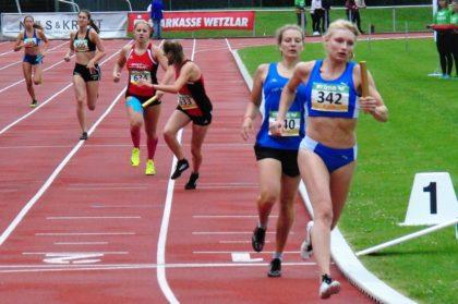 Gesundheitlich angeschlagen blieb Rabea Pöppe mit 63,1 über zwei Sekunden hinter ihrer 400m-Zeit von Gelnhausen zurück. Foto: nh