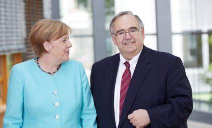 Bundeskanzlerin Angela Merkel und Bundestagsabgeordneter Bernd Siebert. Foto: nh