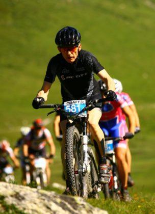 Thorsten Damm unterwegs MTB-Rennen in Kitzbühel. Foto: sportfotograf