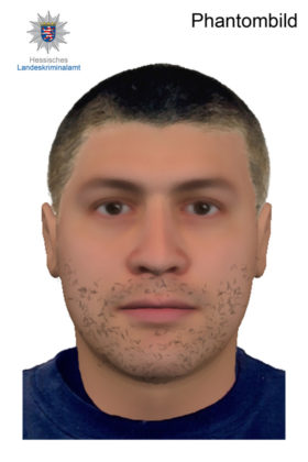 Phantombild vom Täter. Quelle: Polizeipräsidium Nordhessen/obs
