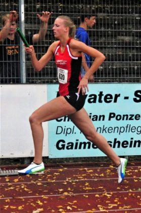 Katharina Wagner legte als Startläuferin mit 59,9 Sekunden den Grundstein für die Bronzemedaille über 4x400 m. Foto: nh
