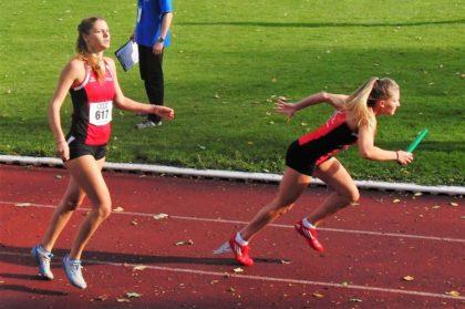 Nele Grenzebach schickte nach 61,9 Sekunden Schlussläuferin Franziska Ebert auf die Reise. Foto: nh