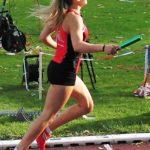Die 17-jährige Franziska Ebert sicheret dem MT-Quartett mit einer kämpferischen Leistung die Bronzemedaille über 4x400 m. Foto: nh