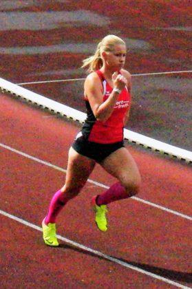 Rabea Pöppe zeigte sich wie gewohnt von ihrer kämpferischen Seite und ließ sich mit 62,32 Sekunden den Sieg nicht nehmen. Foto: nh