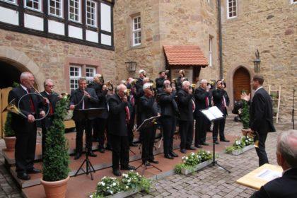 Die Bläsergemeinschaft Hubertus Melsungen. Foto: nh