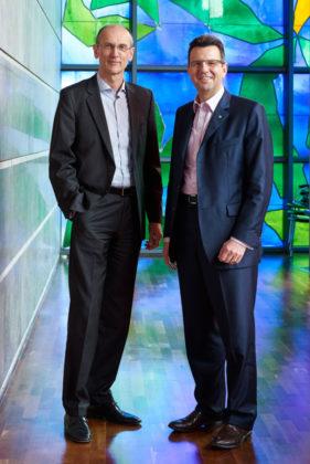 Die beiden EAM-Geschäftsführer Thomas Weber (links) und Georg von Meibom. Foto: nh
