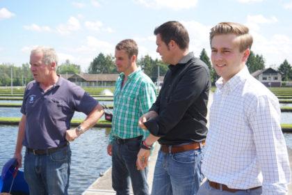 Hermann Rameil, Jochen Rube, Gero Hocker und Elias Knell (v.l.). Foto: nh