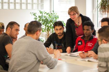 Geflüchtete Menschen lernen bei Arbeit und Bildung e.V. Foto: Arbeit und Bildung e.V.