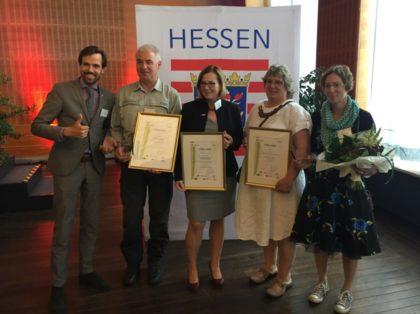 Fabian von Berlepsch, Marco Lenarduzzi, Ute Schulte, Margarete Kluthausen und Denise Stoecklein (v.l.). Foto: Regionalmanagement Nordhessen
