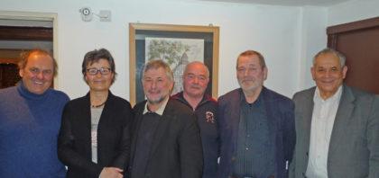 Der Vorstand des DPPV: Dieter Werkmeister, Gerlinde Grünwald, Lothar Kothe, Klaus Rehs, Prof. Dr. Herbert Wassmann und Karl Großenbach (v.l.). Foto: nh