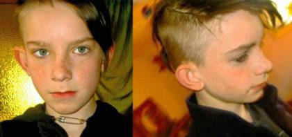 Die Fotocollage zeigt den 13 Jahre alten Marlon L., der vermisst wird. Foto: Polizeipräsidium Nordhessen/obs