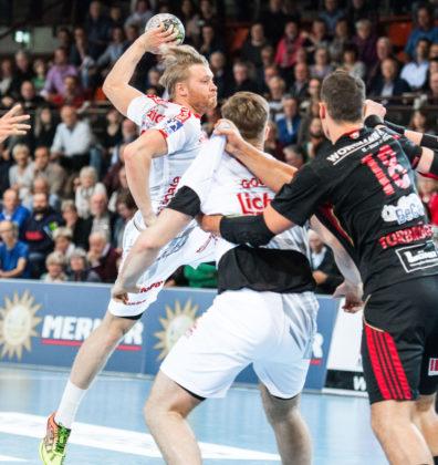 Dener Jaanimaa, der mit neun Treffern beste Schützen des Spiels. Foto: Alibek Käsler