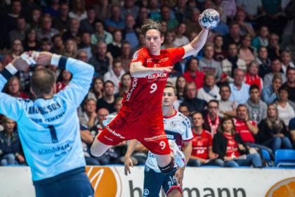MT-Spieler Tobias Reichmann im Anflug auf das gegnerische Tor. Foto: Alibek Käsler