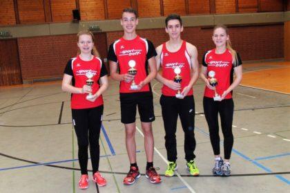 Die Pokalsieger: Vivian Groppe, Jan Gille, Marvin Knaust und Franziska Ebert (v.l.). Foto: nh