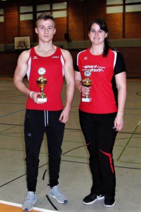 Die beiden Pokalgewinner Jan Ullrich und Lisa Arend. Foto: nh