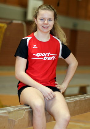 Die 13-jährige Vivian Groppe setzte im 50m-Sprint  mit 7,41 Sekunden das Glanzlicht. Foto: Lothar Schattner