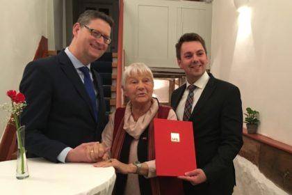 Thorsten Schäfer-Gümbel, Ilse Hosemann und Patrick Gebauer (v.l.). Foto: nh