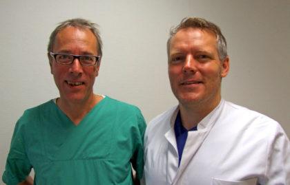 Sie gehen auf Tour: Die Chefärzte Dr. Andreas Hettel (links) und Dr. Felix Meuschke informieren über Erkrankungen und Behandlungsmethoden. Foto: Klein