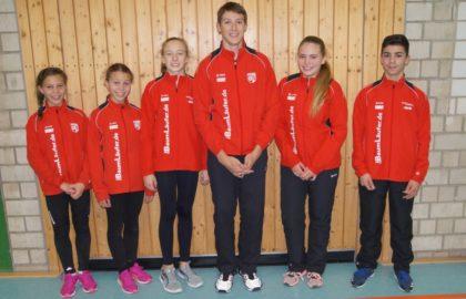 Elly und Rachel Loshausen, Lenka Müller, Fabian Feldmann, Franka Scheurer und Marcel Al-Batat (v.l.). Foto: nh