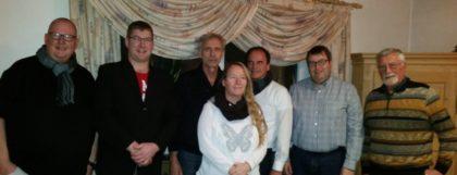 Martin Graefe, Jens Hildebrand, Edgar Farin, Andrea Löw-Neumann, Volker Neumann, Jens Döring und Günter Bartaune (v.l.). Foto: nh