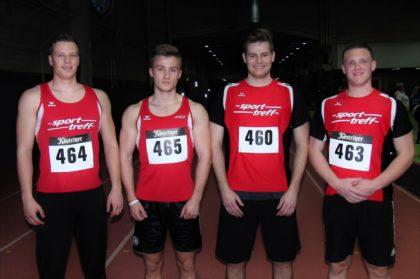 Mit Michael Hiob, Jan Ullrich, Florian Schareina und Mario Nadler standen vier MT-Sprinter im 60m-Finale der Männer. Foto: nh