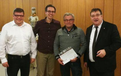 Marc Liebermann, Marco Rösner, Michael Gutheil und Mark Weinmeister (v.l.). Foto: nh