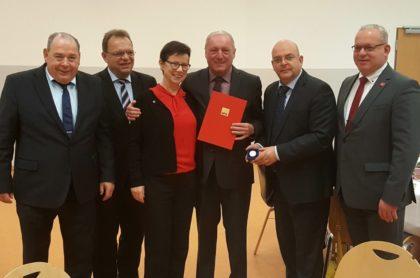 Michael Kreutzmann, Winfried Becker, Martina Werner MdEP, Hans-Jürgen Köbberling, Dr. Edgar Franke MdB und Jürgen Kaufmann (v.l.). Foto: nh
